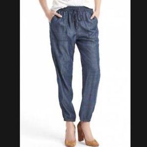 GAP Women's Drapey Utility Joggers/Pants indigo